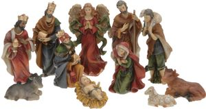 Weihnachtskrippe Figuren - Nativity Set - 11-teilig
