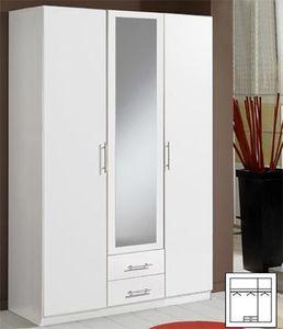 Kleiderschrank Cliff Drehtürenschrank 135cm weiß 3-türig