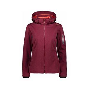Cmp Woman Jacket Zip Hood 01Hf Magenta Mel.-Red Fluo 38