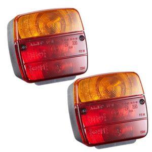 2x 3 Kammer Anhänger Rücklicht Rückleuchte 3 Funktionen Bremslicht Blinker Licht