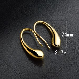 Elegante Mode 925 Sterling Silber Frauen Ohr Ohrstecker Ohrringe Gold
