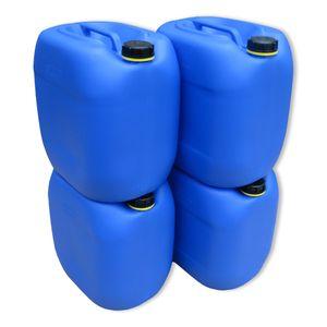 4 x 30 Liter Kanister Wasserkanister Campingkanister Farbe blau lebensmittelecht (4x30 knb)