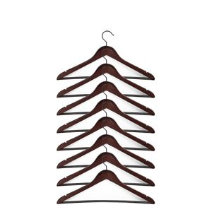 Holzkleiderbügel drehbar mit Hosensteg Dunkelbraun, Mengen:16 Stück