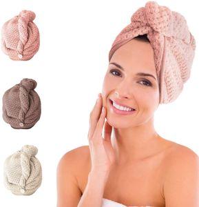 iLiebe Haarturban, 3 StückTurban Handtuch mit Knopf, Turban Haartrockentuch, Schnelltrocknend Mikrofaser Handtuch für Kopf und Lange Haare