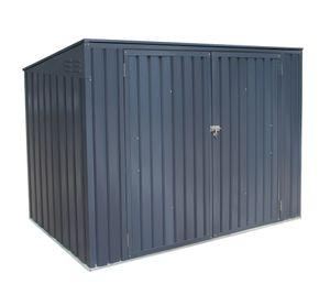 Westmann Mülltonnenbox 2,3x1 m Gerätebox 7x3 grau 1,72 m² Gerätebox Aufbewahrungsbox