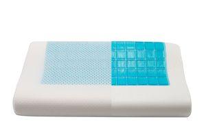 Kühlendes Nackenstützkissen, 30x50 cm, viskoelastisch, weiß