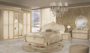 Barock Schlafzimmer Lavinia in Beige 6-Teilig 6-Türig