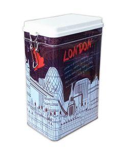 VORRATSDOSE luftdicht Blechdose Metall Dose Matalldose Kaffeedose Aromadose Vorratsdose 73 (London)