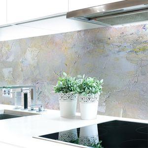 Küchenrückwand Malerei Abstrakt  Premium Hart-PVC 0,4 mm selbstklebend - Direkt auf die Fliesen, Größe:400 x 60 cm