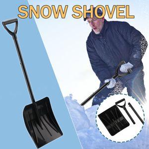 Winter Teleskop Schneeschaufel Multifunktionale tragbare Schneeschaufel