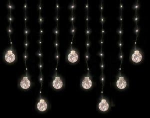 LED Kugel Lichterkette für Fenster & Decke - warmweiß / 9 Stränge + 160 LED