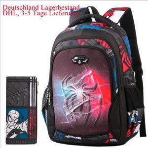 Teenager Schultaschen Spinnenmann Ultra Light Burden Reduction Kinder Schulrucksack Cartoon Rucksack Taschen Für Jungen Mädchen (L: 46*32*18cm)