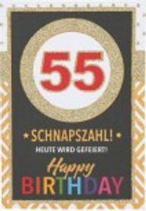Originelle Klappkarte mit Zahlen Geburtstagskarte zum 55. Geburtstag
