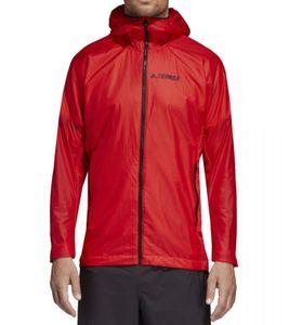 adidas Terrex Agravic Hoooded Shield Lauf-Jacke dünne Herren Outdoor-Jacke Rot, Größe:46