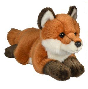 Uni-Toys - Rotfuchs, liegend- 24 cm (Länge) - Plüsch-Fuchs - Plüschtier, Kuscheltier