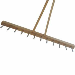 Landrechen mit Eisenzinken mit Holzstiel, Maße: 2,8 x 80 cm
