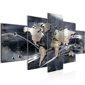 Weltkarte World map BILD :200x100 cm − FOTOGRAFIE AUF VLIES LEINWANDBILD XXL DEKORATION WANDBILDER MODERN KUNSTDRUCK MEHRTEILIG 106851c