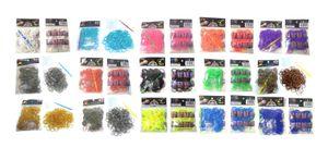 3000 (15x 200) Loom Gummibänder Set + 180 Clips / 15 verschiedene Farben