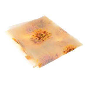 Sunflower Printed Window Sheer Voile Vorhang One Panel Voile Drape für Schlafzimmer Wohnzimmer 200x100cm (gelb)