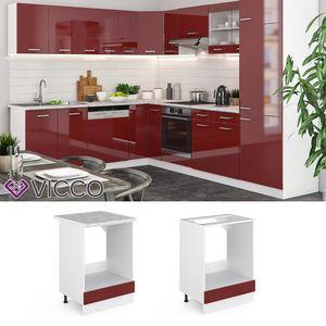 Vicco Herdumbauschrank 60 cm ohne Arbeitsplatte Küchenschrank Unterschrank Küchenunterschrank R-Line Küchenzeile