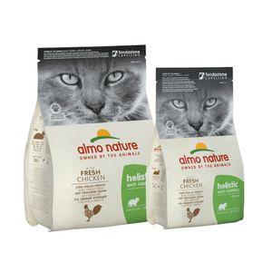 Almo Nature Katze Holistic Trockenfutter - Anti-Hairball  Geschmack: Huhn, Gewicht: 2kg