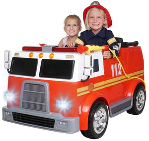 Kinder Elektroauto Feuerwehrauto Feuerwehr Elektrofahrzeug Kinderauto 2 Sitzer