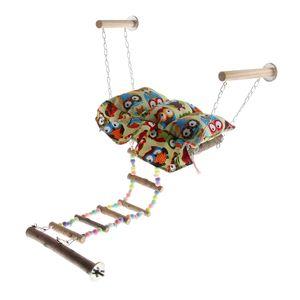 Hängematte Hängebett Schaukel Vogelkäfig Spielzeug für Vögel, Papageien, Wellensittiche Nymphensittiche, Tauben, Sittiche, Finken