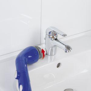 Reinigungs Bürste elektrisch Scrubber Akku Reinigungsbürste Teleskop 3 Aufsätze
