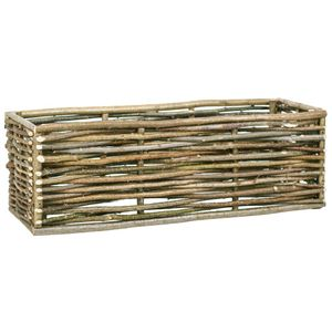 Garten-Hochbeet Hochbeet für Balkon und Garten 120×40×40 cm Haselnussholz