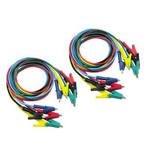 Packung 10 Stücke Krokodilklemmen Kabel Beidseitig Alligator Jumper Messleitungen Kabel 1 Mt Lang \\u0026 5 Farben 1500 V 15A