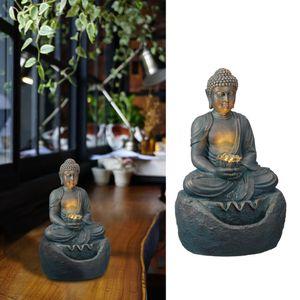 LED Brunnen Buddha Outdoor Feng Shui Design Wasserspiel mit Pumpe