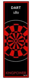 Dart Teppich Matte Rot Steeldart Dartpfeile Dartboard Zubehör Dartteppich Target Oche Darts Abwurflinie Schutz Gummi Boden Dartscheibe 237 x 80 cm Kingpower