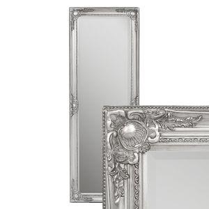 Spiegel LEANDOS barock silber-antik 140x50cm