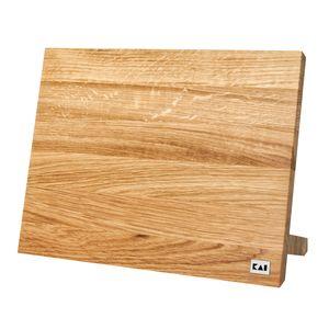 KAI DM-0805 Magnet Messerblock, Eichenholz, 34 x 27 cm, natur/hellbraun (1 Stück)