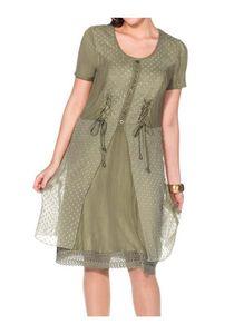 Joe Browns Damen Marken-Kleid mit Spitze, oliv, Größe:50