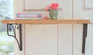 Traumhaftes Landhaus Wandregal Regal 'Stella' aus Holz, im Shabby Chic Stil