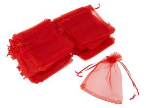 100 Organzasäckchen, 12x7,5cm, VBS Großhandelspackung Rot