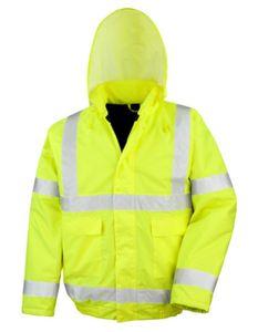 High Viz Winter Blouson - Arbeitsjacke   ISOEN20471:2013 - Farbe: Fluorescent Yellow - Größe: XL