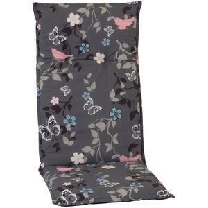 Gartenstuhl-Auflage Barcelona – Hochlehnerauflage für Gartenstühle, Dessin:Vintage Flower, Anzahl:6er Set