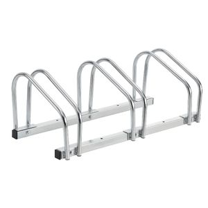 Fahrradständer 3 Fahrräder Ständer Mehrfachständer verzinkt Boden / Wandmontage