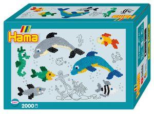 "Hama Bügelperlen midi ""Delfine"" Geschenkpackung 2.000 Bügelperlen"