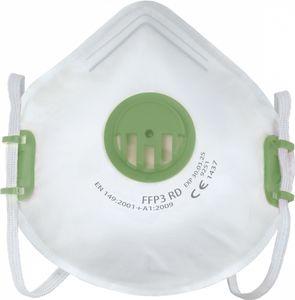 10x Profi Atemschutz FFP3 Schutz Maske mit Ventil - wiederverwendbar - 99% Filterung - hergestellt in der EU