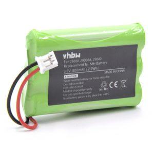 vhbw NiMH Akku 800mAh (3.6V) kompatibel mit Baby Phone, Baby Monitor Motorola MBP11, MBP33, MBP34, MBP36, MBP36PU
