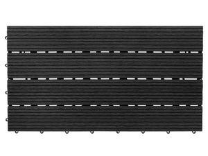 Klickfliesen WPC-Terrassendielen Royal Anthrazit 60x30 cm