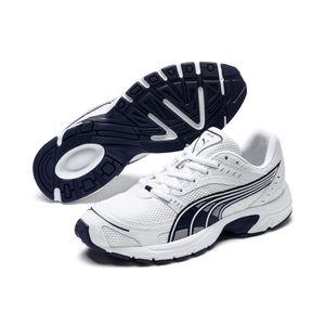 PUMA Axis Low Boot Sneaker Weiss-Peacoat Schuhe, Größe:44