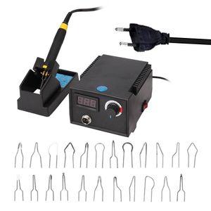 Multifunktionale digitale elektrische Kuerbis Holz Brandmalerei Maschine Zeiger Instrument mit 23pcs Heizung Stiftkoepfe