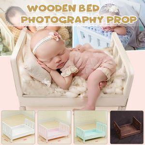 Meco Neugeborenen Bett Baby Mini Holz Fotografie Newborn Fotoshooting Kinderfoto -white