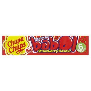 Chupa Chups Big babol Strawberry 6 einzel gewickelte Kaugummi 27g
