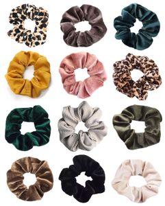 12x Hohe Qualität Scrunchies Samt Haargummis, 12 Farben Elastische Haar Gummibänder Haarbänder, Pferdeschwanz Haarband Haaschmuck für Mädchen Frauen