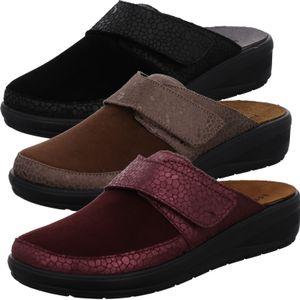 Rohde Damen Pantoffeln Hausschuhe Catania 6167, Größe:40 EU, Farbe:Schwarz